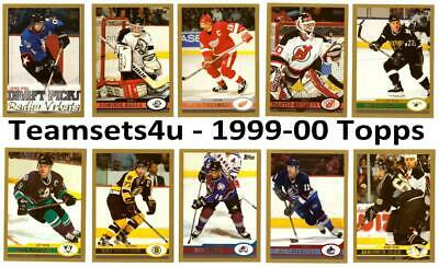 1999-00 Topps Hockey Set ** Pick Your Team ** See Checklist in Description