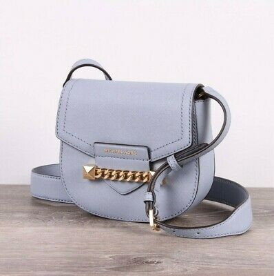 eafe24ac9240b2 NWT Michael Kors KARLA Small Saddle Leather Crossbody Bag In Various Colors