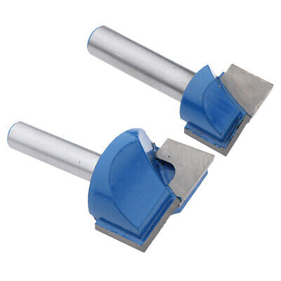 2xCNC Bottom Cleaning Clean Wood Milling Router Cutter Drill Bit - 8mm Shank