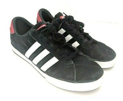 new style f3d4b 1415c Adidas NEO Mens Size 10.5 SE Daily Vulc Lifestyle Skateboarding Shoe Black  Suede