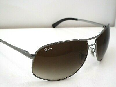 917cc4016 Authentic Ray-Ban RB 3387 004/13 Gunmetal Brown Gradient Sunglasses $235