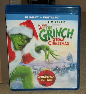Dr Seuss How the Grinch Stole Christmas Blu-ray Jim Carrey