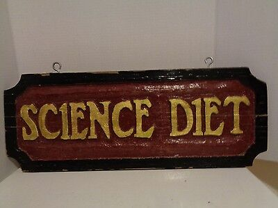 Science Diet Dog Cat Food Advertising Storefront Wood Painted Sign Veterinarian