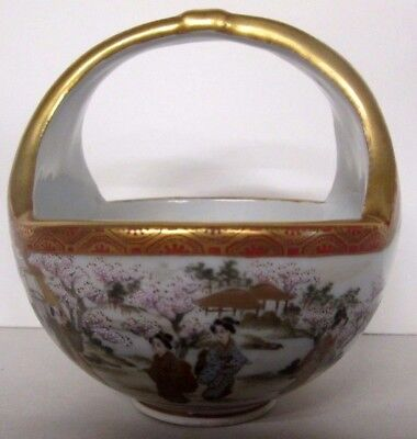 Antique Japanese Kutani Handled Bowl Fine Enamelling Shrewsbury Museum Sale!
