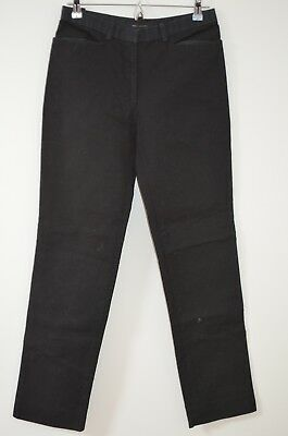 Marc Jacobs Black 100% Cotton Ribbed Straight Leg Casual Pants Size 4