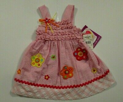 5bb0f943696 NEW Youngland Toddler Girls 24 Mo Pink Gingham Check Sun Dress Outfit One  Piece