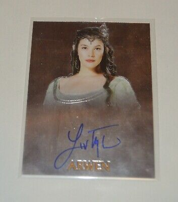 Liv Tyler Arwen Lord of the Rings Autograph Card Topps Auto Signed Chrome Proof