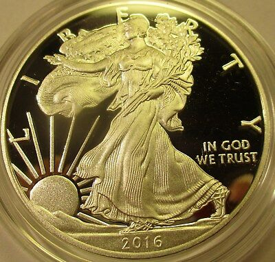 2016-W  1 oz Silver American Eagle Proof  30th Anniversary coin w/box & COA-OGP