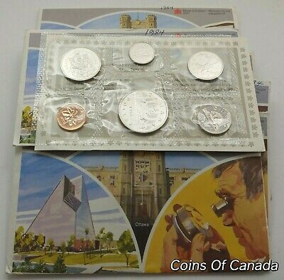 1984 Canada Prooflike 6 Coin Original Set Multiple Sets Available #coinsofcanada