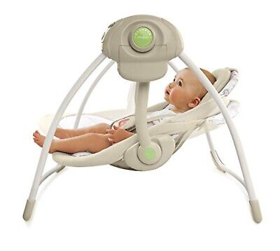 Bright Starts Ingenuity Soothe 'n Delight Portable Swing Cozy Kingdom