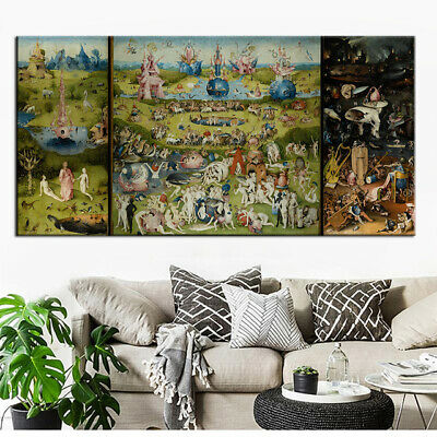 The Garden of Earthly Delight Oil Painting Canvas Print Wall Art Decor(Unframed)