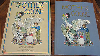 Antique 1915 MOTHER GOOSE 4th Ed HC Volland w/Rare Box~LOOK at Book Condition!!
