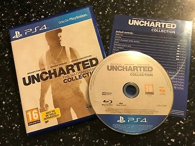 Playstation 4 Ps4 Uncharted (1 2 & 3) The Nathan Drake Collection Pal Complete