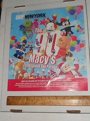 Macy's 90th Thanksgiving Day Parade, Promo AD, Lists Balloons Floats Talent 2016