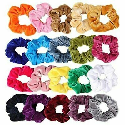 Lady Soft Velvet Scrunchies Hair Ring Elastic Stretch Hair tie Ponytail Holder