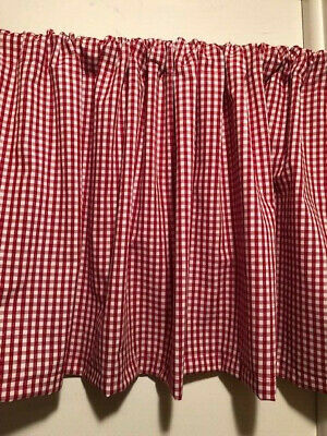 Handmade Red,Green,Blue and Pink Gingham Valance 54 x 15 inches