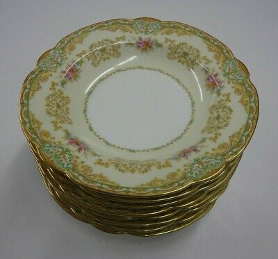 "Vintage Noritake Shelby China 7-3/4"" Rim Soup Bowl #3623 Lot of Eight (8)"