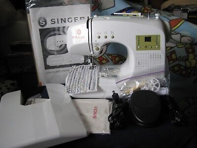 Singer FW75 Featherweight  Sewing Machine w/ACCESSORIES & Extension Table WORKS!