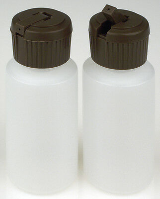 Plastic Bottle w/Applicator Lid, 1-oz., (HDPE), 50-Pack, New