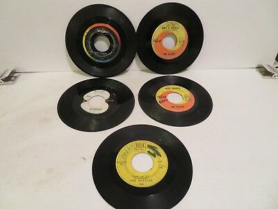 LOT OF 5   45 Records    THE BEATLES   VARIOUS LABELS