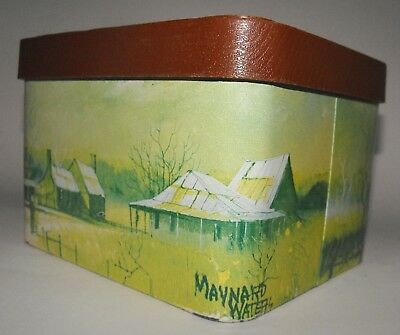 Vintage WILLOW Biscuit TIN Maynard Waters Art Australian Country 1970's ReTRo