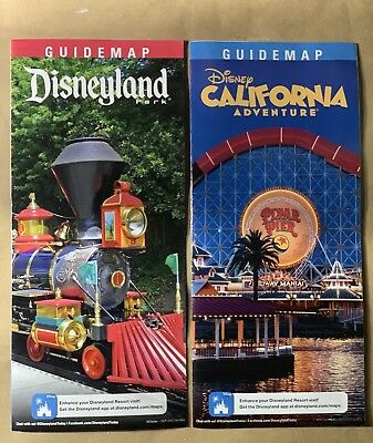 Disneyland and Disney California Adventure - January 2019 - Guide Map Set