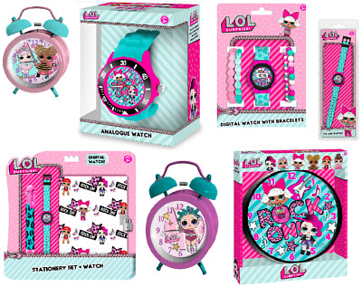 Children's Lol Surprise Pink Watch Clocks Bedroom Accessories Play Dolls Secret