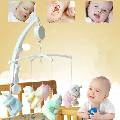 Baby Crib Bed Hanging Bell Wind-Up Rotating Music Box Kids Develop Toys Ornate