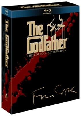 The Godfather Trilogy (Restored) (BLU-RAY 3 DISC BOX SET, 1990) *NEW/SEALED*