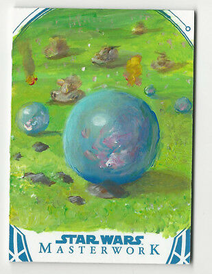 Booma 2018 Topps Star Wars Masterwork Sketch Card by Ward Silverman 1/1