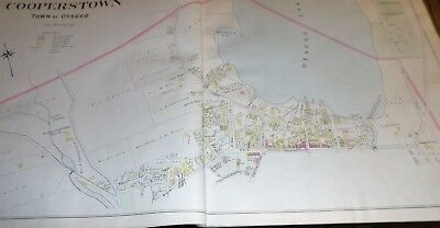 Orig 1903 Double Page Maps Towns Of Otsego & Milford & Parts Of Cooperstown Ny