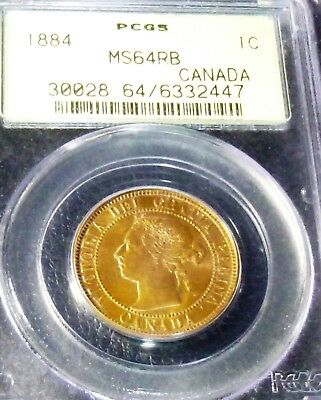 1884 Canada  Large Cent  Pcgs Ms64