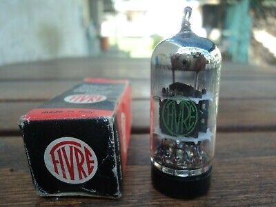 1957/s  ECC85 6AQ8 FIVRE TUBE GREEN LABEL NOS NIB AND VERY STRONG TUBE