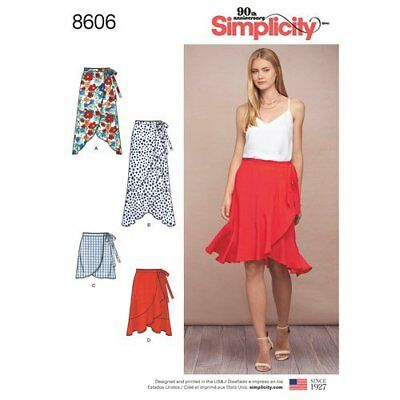 Simplicity Sewing Pattern 8606 Misses 14-22 Wrap Skirts Inc Frill Maxi Options