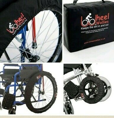 Wheelchair wheel covers universal fits all size wheels. Keeps dirt wet out, Pair