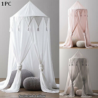 Chiffon Tassel Curtain Pest Control Mosquito Net Bed Canopy Reject Baby Kid