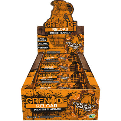 Grenade Reload Flapjack 12 x 70g High Protein Sustained Energy Great Tasting