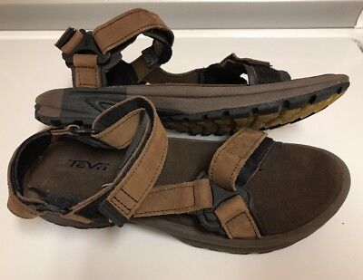 84116651a866 TEVA Men Brown Leather Waterproof RIVER Sandals HIKING Trail SPORT Shoes 11  New