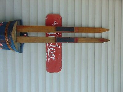 vintage/ antique wooden skis   37   long      chalet decor  very   nice   # 5398