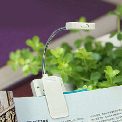 Study USB Rechargeable Book Light Night Solar Powered Table Lamp Flexible Clip