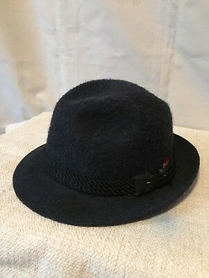 Dobbs Fifth Avenue Men's Black Wool Fedora Hat Size 7 1/4 Fabulous Fashion