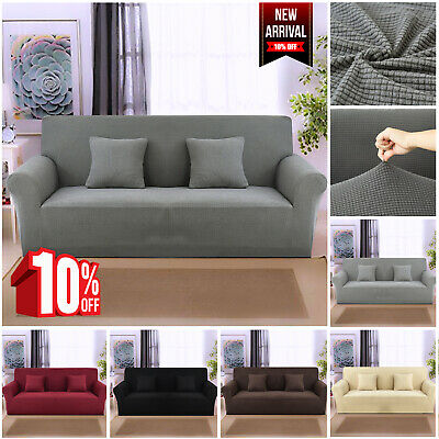 1/2/3/4 Seater Stretch Sofa Slipcovers Pet Protector Washable Soft Couch Covers