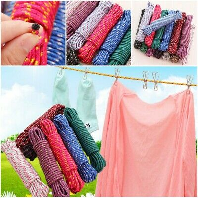 Hanging Rope Clothesline Rope Line Cord String Nylon Drying Clothes Hanger