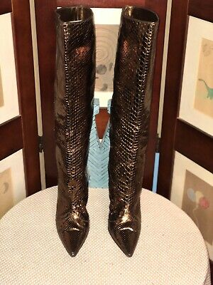 222eced668c JIMMY CHOO LONDON Made In Italy Brown Suede Boots Sz 37.5 Pull On 2 ...