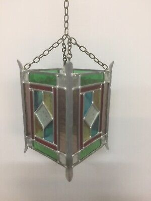 vintage stained glass lantern
