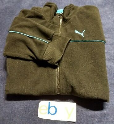 PUMA SPORT LIFESTYLE Boys Long Sleeve Pullover Sweatshirt Sports WarmUp SzL EUC