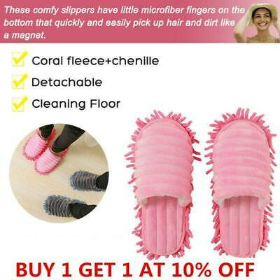 2019 Mop Slippers Lazy Floor Foot Sock Shoes Quick Polishing Cleaning Dust E3J3