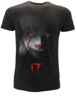 T-shirt originale IT Clown film horror cult Stephen King maglia maglietta nera