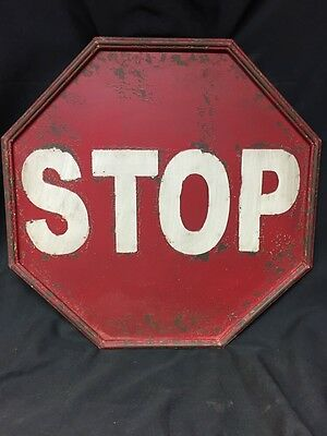 "New Stop Sign Vintage Style 16"" X 16"" Man Cave Restaurant Rust Decor Decoration"