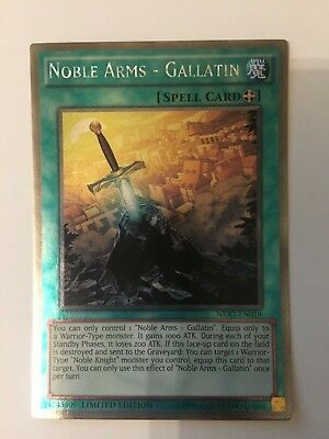 NKRT-EN019 Noble Arms - Gallatin Platinum Rare Limited Ed Yu-Gi-Oh